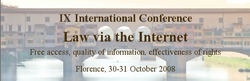 9th International Conference Law via the Internet, Florence 30-31 October 2008.png